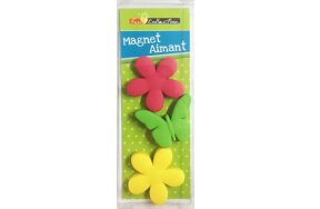 MAGNETS FLOWERS SET/3PCS